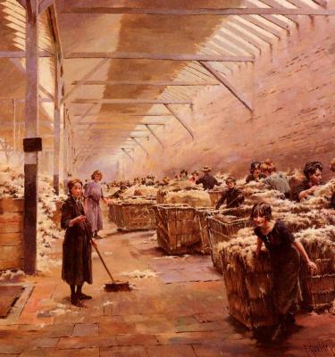 Джозеф Фердинанд Гуелдри. Шерстяная фабрика