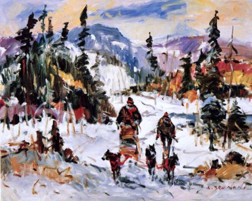 Серж Брунони. Зимний пейзаж