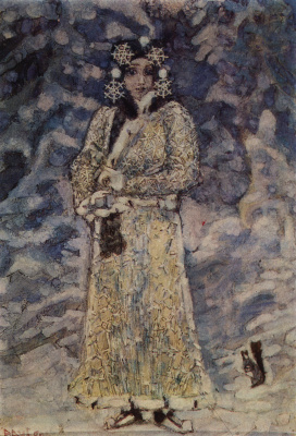 "Mikhail Aleksandrovich Vrubel. The snow maiden. Costume design for the Opera N.. Rimsky-Korsakov ""The Snow Maiden"""