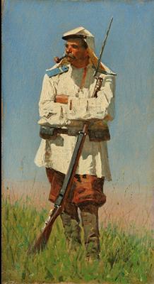 Vasily Vasilyevich Vereshchagin. Turkestan soldier in uniform