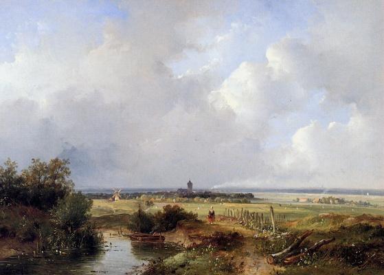 Джозефус Ганс. Панорамный летний пейзаж