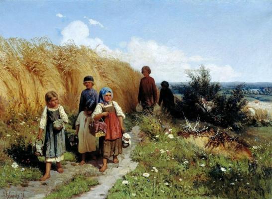 Alexey Danilovich Kivshenko. The harvest time