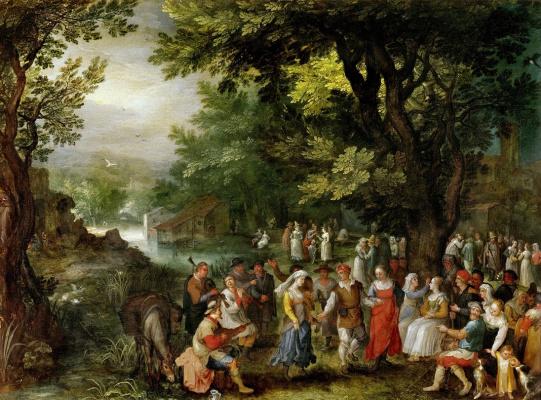 Jan Bruegel The Elder. Wedding