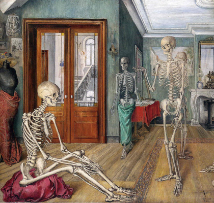 Paul Delvo. The skeletons in the room