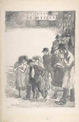 Theophile-Alexander Steinlen. The street crowd