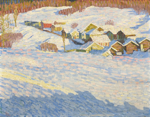 Джованни Джакометти. Зимний пейзаж