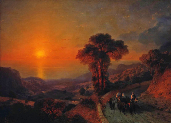 Ivan Aivazovsky. The view of the sea from the mountains. Crimea