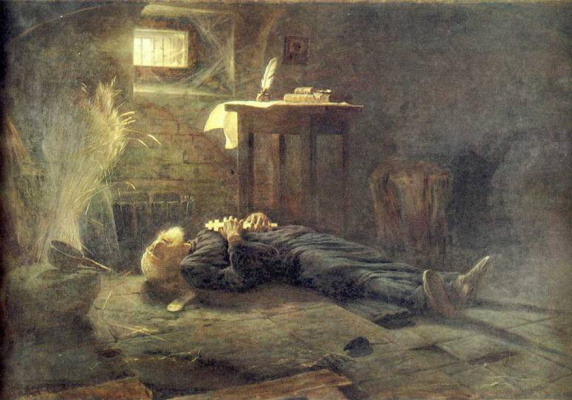 Alexander Nikonorovich Novoskoltsev. Death of Patriarch Hermogenes (During the Polish-Lithuanian invasion). 1915