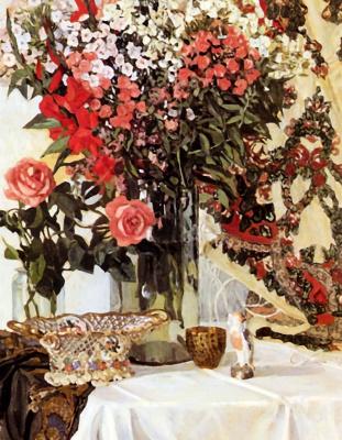 Alexander Yakovlevich Golovin. Still life with flowers