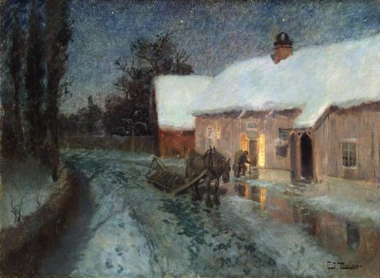 Frits Thaulow. Night