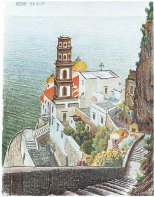 Maurits Cornelis Escher. View of the Atrani