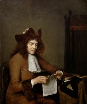 Gerard Terborch (ter Borch). Reading young man