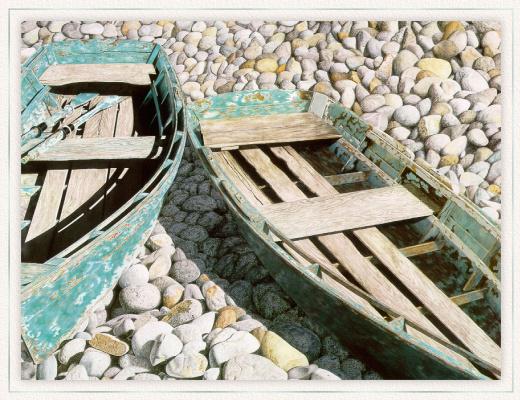 Гэри Грин. Две лодки на берегу