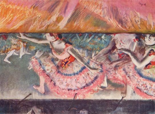 Edgar Degas. The descending curtain