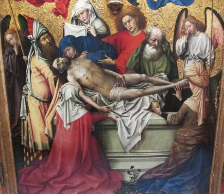 Робер Кампен. Триптих: погребение Христа. Фрагмент: гробница Христа