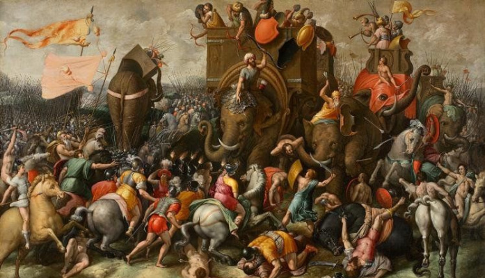 Masterpieces of unknown artists. The battle of Zama
