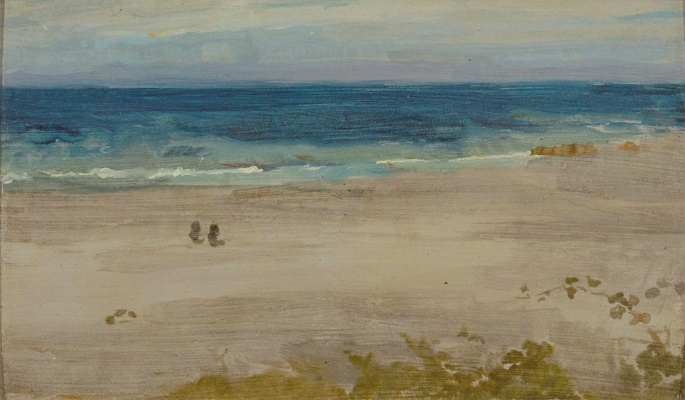 James Abbot McNeill Whistler. Arrangement in Blue and Black (The Blue Sea)
