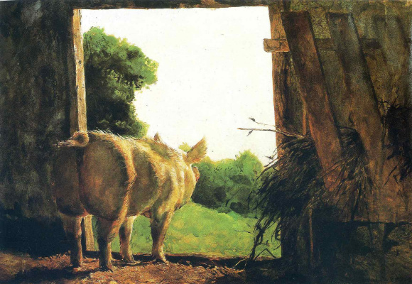 Jamie Wyeth. Baby Jane in summer