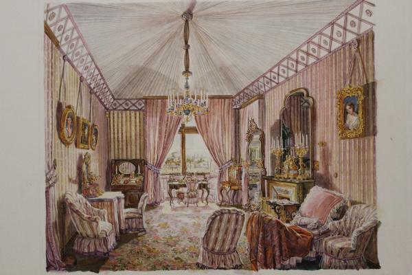 Tatyana Alexandrovna Muratova. Interior copy 19th century