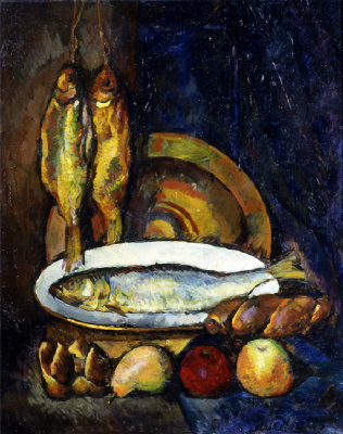 Ilya Ivanovich Mashkov. Still life with fish