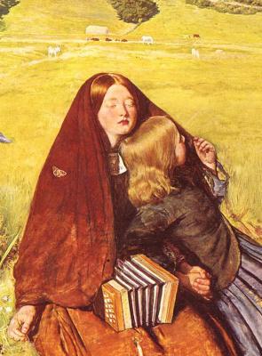 John Everett Millais. A blind girl. Fragment