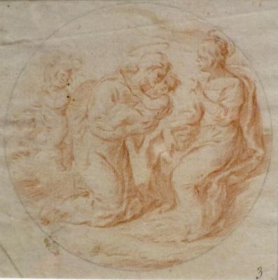 Джованни Бальоне (Баглионе). Святой Антоний Падуанский с младенцем Христом на руках
