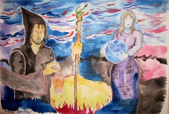 Дмитрий Юрьевич Буянов. Allegory `The Moon` Artist Dmitry Buyanov
