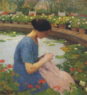 Анри Мартен. Швея в саду