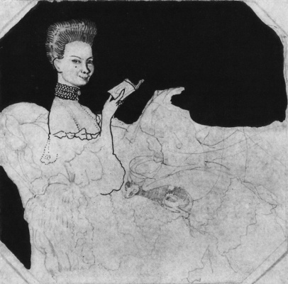 Константин Андреевич Сомов. Дама с собачкой. 1903