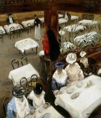 Alfred Henry Maurer. In a cafe