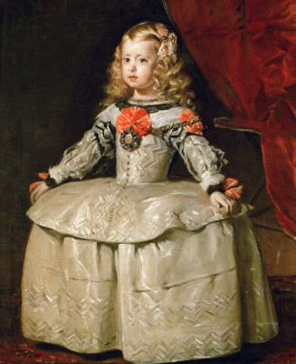 Diego Velazquez. Portrait of the Infanta Margarita in a white dress