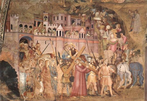 Христос, несущий крест на Голгофу