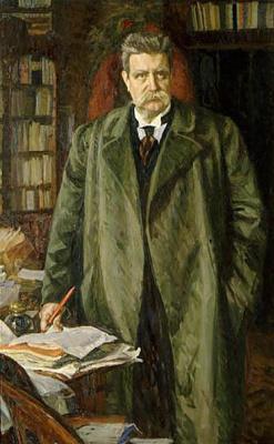 Sven Richard Berg. Portrait of Karl Hjalmari Branting.