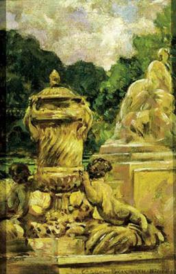 Джеймс Кэрролл Беквит. Сад с фонтаном