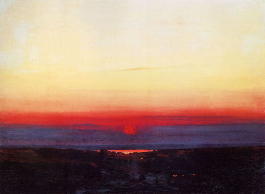 Arkhip Ivanovich Kuindzhi. Sunset in the desert on the sea shore