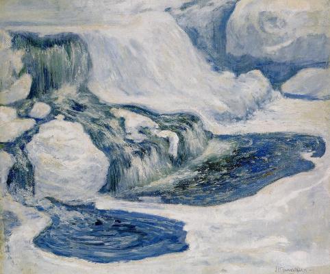 Джон Генри Твахтман. Водопад в январе
