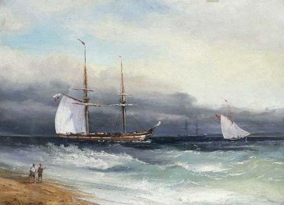 Konstantin Artseulov. Trois voiliers
