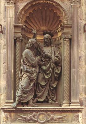 Андреа дель Верроккьо. Христос и Фома неверующий