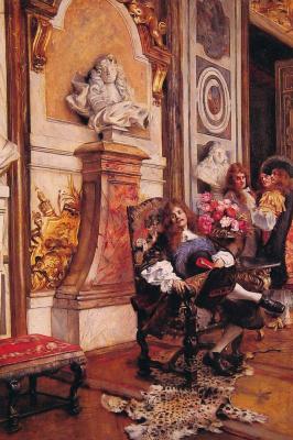 Франсуа Фламенг. Мольер требует встречи с королем Людовиком XIV в Версале