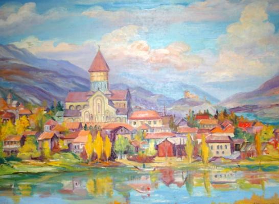 """Nina Kazimirovna Czarnecka. Cathedral,Svetitskhoveli Cathedral"""" in Mtskheta"""