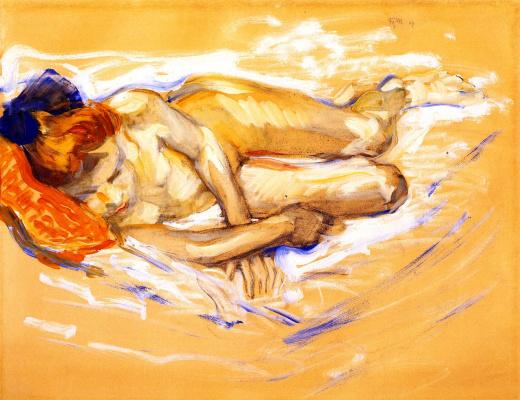 Franz Marc. Nude Girl