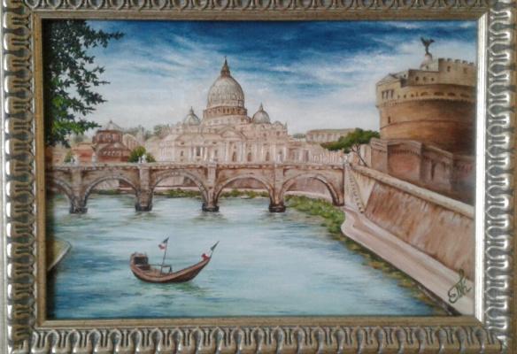 Koroleva Tatyana. Bridge of sv. Angela Rome.