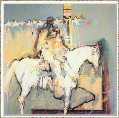 Эми Бернетт. Всадник на белом коне