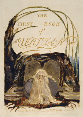 William Blake. The first book Urizen. Title page. Arisen before the book