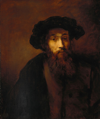 Thomas Gainsborough. Portrait of a bearded man (after Rembrandt van Rijn)
