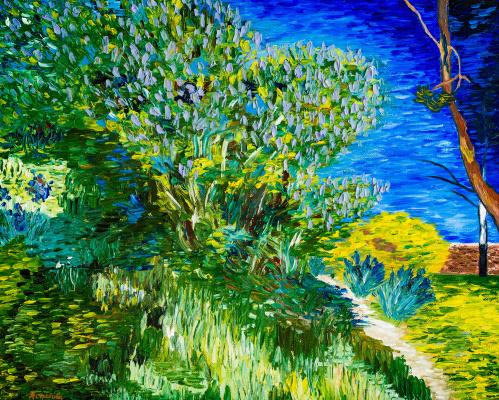 Arina Yuryevna Yastrebova. Bush. Van Gogh. Copy