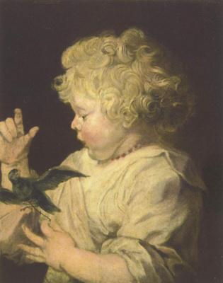 Peter Paul Rubens. Portrait child with bird