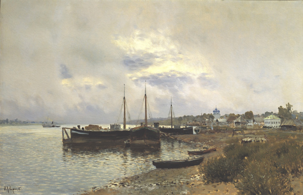 Isaac Levitan. After the rain. Ples