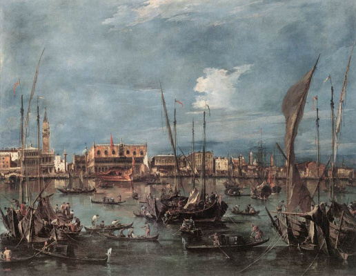 Francesco Guardi. Molo and Schiavoni from Basino di San Marco