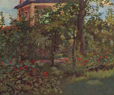 Edouard Manet. Corner of the garden at Bellevue